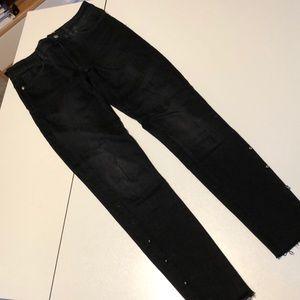 Zara Black Soft Skinny Jeans w Ball Studs 24
